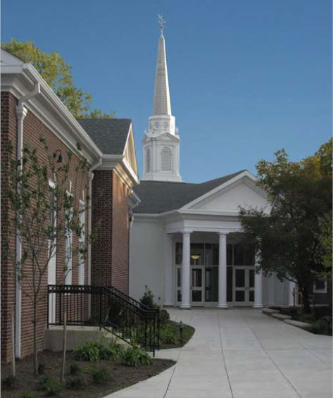 First Presbyterian Courtyard and Entrance